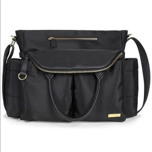 Skip Hop Chic Black and Gold Diaper Bag